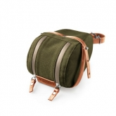 Brooks Isle of Wight Saddle Bag - Large - Green / Honey